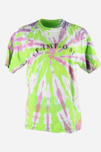 Rainbow Tie Dye T-Shirt Retro Music Festival Hipster Women Multi Size XL