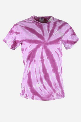 Tie Dye T-Shirt Top Tee Music Festival Retro Indie 90s Women Multi Size S
