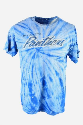 Tie Dye T-Shirt Top Tee Music Festival Retro Indie Men Blue Size L
