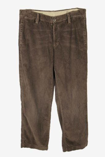 Vintage Corduroy Cord Trousers Straight Smart Charcoal Size W35 L32