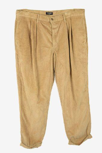 Vintage Dockers Corduroy Cord Trousers Oversize 90s Beige Size W38 L31