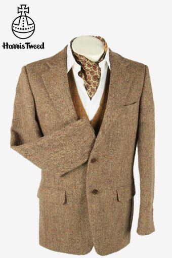 Vintage Harris Tweed Blazer Jacket Herringbone Country Multi Size M