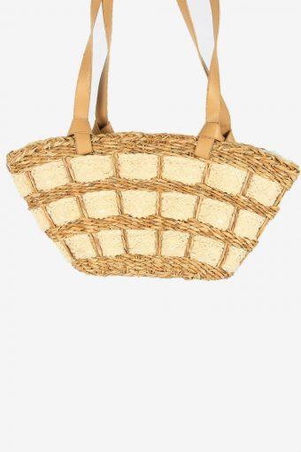 Women Summer Handbags Tote Bag Straw Weaving Bag Rattan 90s Beige