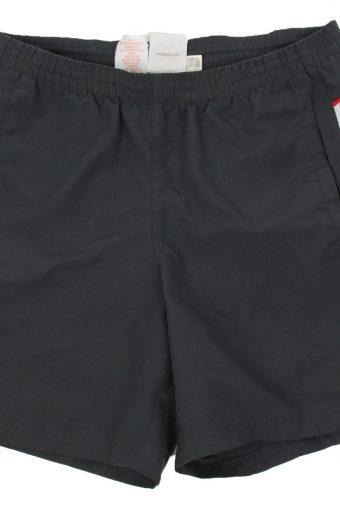 Adidas Mens Short Elasticated Waist 3 Stripes Summer Vintage Size L Grey