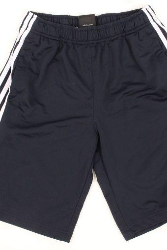 Adidas Sport Short 3 Stripes Football Jogging Vintage Size 15-16Y Navy