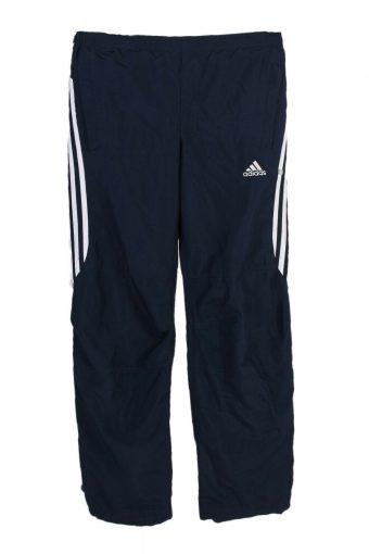 Adidas Three Stripes Tracksuits Bottom Sportswear Vintage UK S Navy