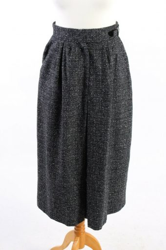C&A Yessica Long Lined Skirt Classy Wool Blended Vintage Grey