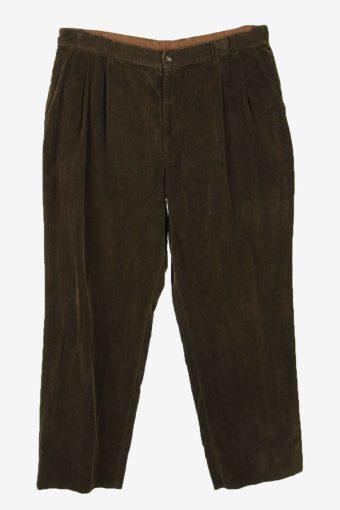 Corduroy Cord Trousers Vintage Oversize Smart Brown Size W35 L31