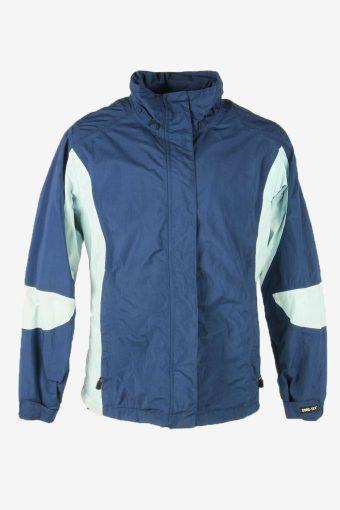 Eddie Bauwer Vintage Outdoor Jacket Gora Tex Lined Pockets Blue Size L