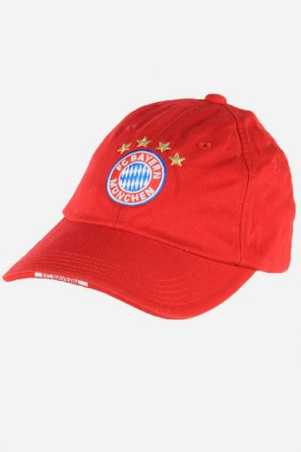 Football Caps Bayern Munchen Adjustable Snapback Cap 90s Retro Red