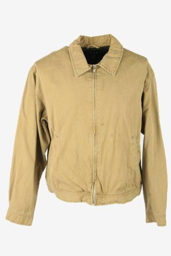 Gap Vintage Casual Jacket Lined Pockets 90s Retro  Beige Size M