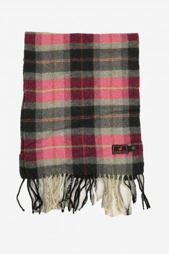Hemley Wool Vintage Check Tartan Scarf Winter Soft  90s Retro Multi