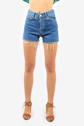 Levis 501 Womens High Waisted Hotpants Denim Shorts Grade A