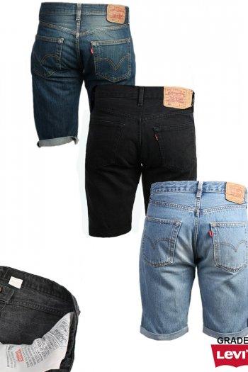 Levi Strauss Denim Shorts Mens Cut Off Grade A
