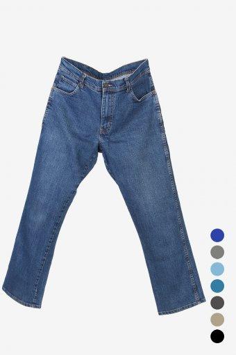 Vintage Wrangler Men's Classic Regular Fit Stretch Jeans