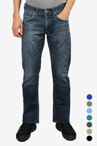Mustang Jeans Mens Bootcut Mid Rise Vintage Grade A