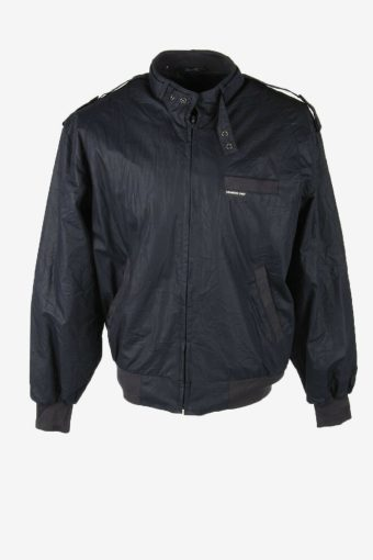 Members Only Vintage Bomber Jacket Winter Warm Lined Pockets Navy Size M