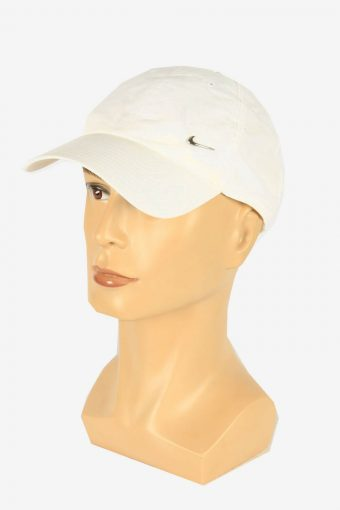 Nike Sport Cap Adjustable Snapback Headwear 90s Vintage Retro White