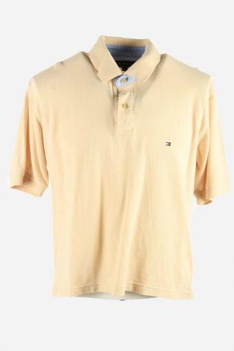 Polo Shirts Men Tommy Hilfiger Pique Golf  T-shirt Casual Beige Size XL
