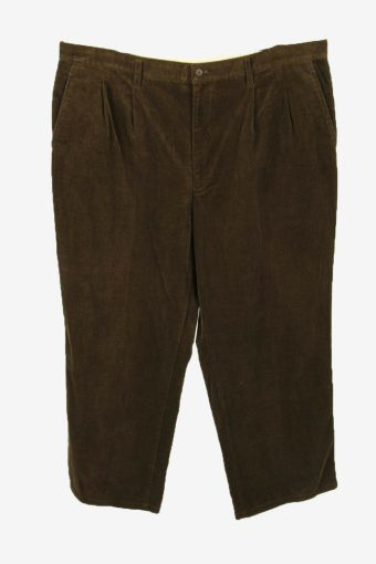 Vintage Corduroy Cord Trousers Oversize Comford Brown Size W40 L26