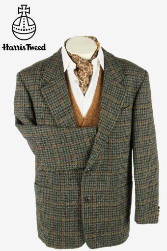 Vintage Harris Tweed Blazer Jacket Check Windowpane Weave Multi Size L