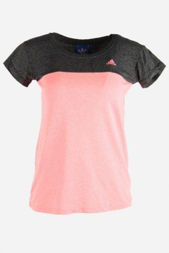Women Adidas T-Shirt Tee Short Sleeve Sports Vintage 90s  Pink Size L