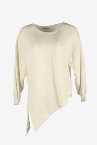 Zara 90s Sweatshirt Plain Vintage Pullover Sports Retro White Size L